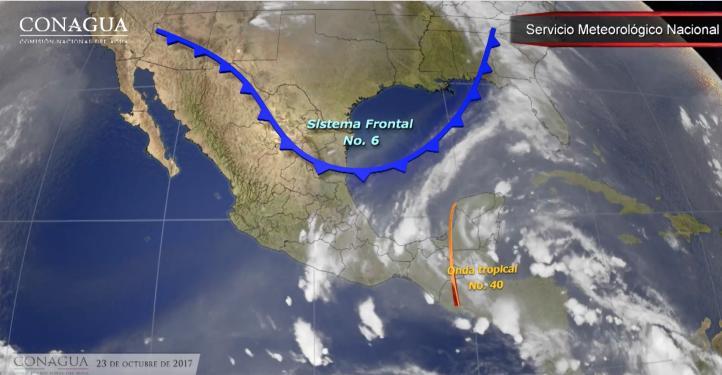 Pronóstico del tiempo para el 23 de octubre