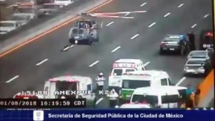 Difunden video del accidente en la autopista México-Puebla
