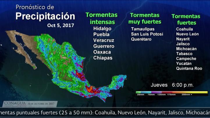 Pronóstico del tiempo para el 4 de octubre