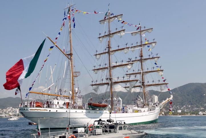 El buque escuela Cuauhtémoc ya se encuentra en México