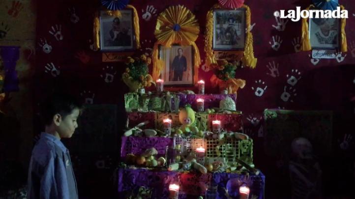 En Tlalpan, Del Valle y Condesa, así festejaron el Día de Muertos los afectados por el sismo