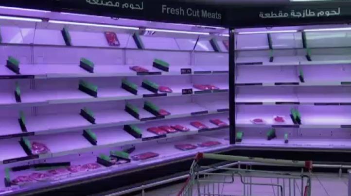 Compras de pánico en Qatar
