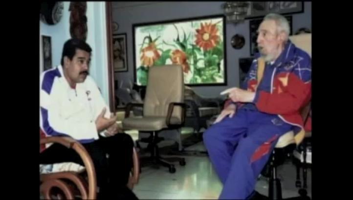 Fidel Castro se reúne con Maduro; lo felicita por apoyo a Gaza