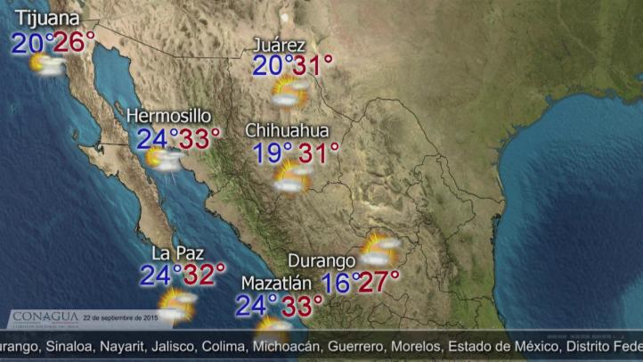Pronóstico del Tiempo para el 22 de septiembre
