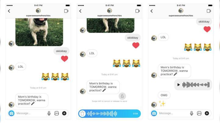 Instagram Direct introduce mensajes de voz por primera vez