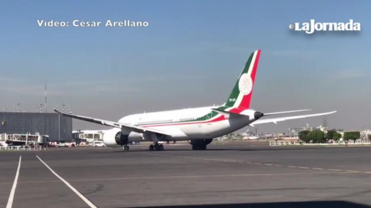 Se va el avión presidencial rumbo a EU