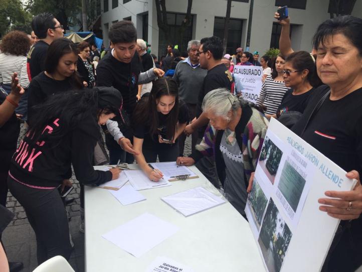 Vecinos de Coyoacán protestan contra remodelación de parque