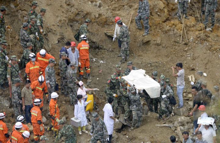 Deslave en China deja seis muertos y 21 desaparecidos