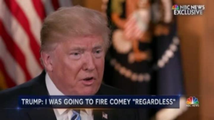 Trump: Hubiera despedido a Comey aún sin recomendación