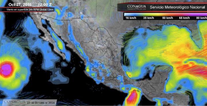 Pronóstico del tiempo para el 27 de octubre