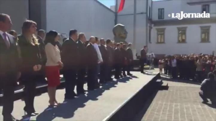 Osorio Chong encabeza ceremonia en Segob