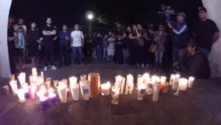Homenaje a los estudiantes asesinados en Guadalajara