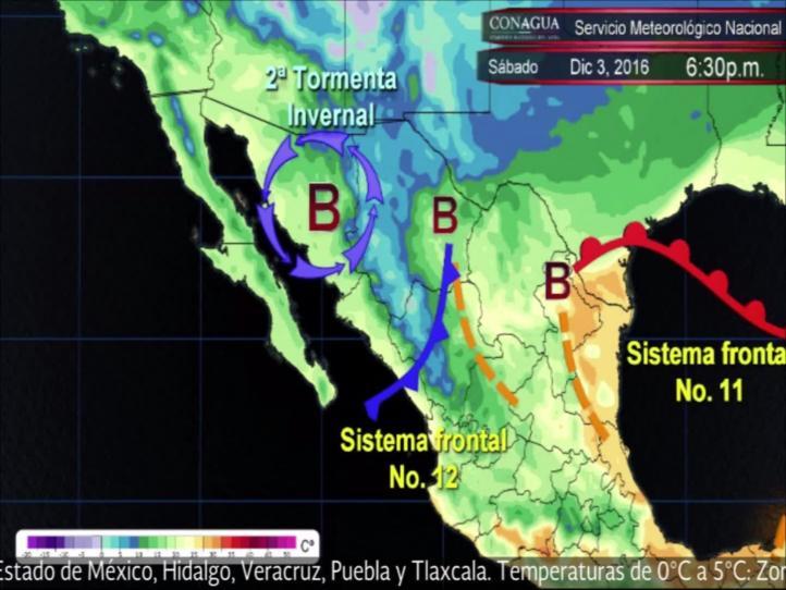 Pronóstico del tiempo para el 3 y 4 de diciembre