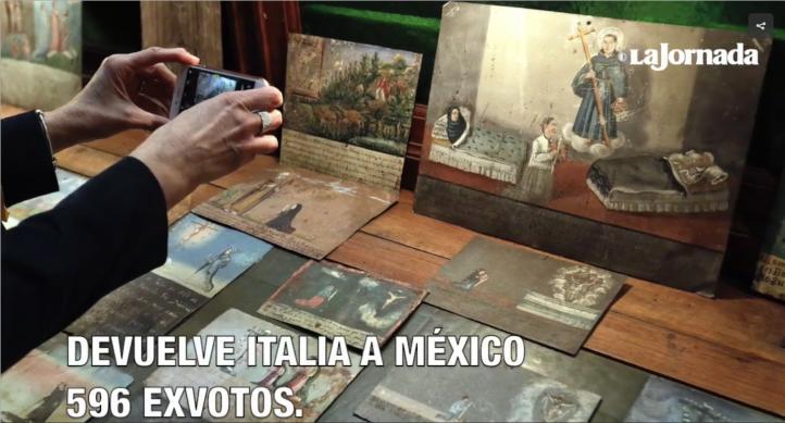 Italia devuelve a México 596 exvotos
