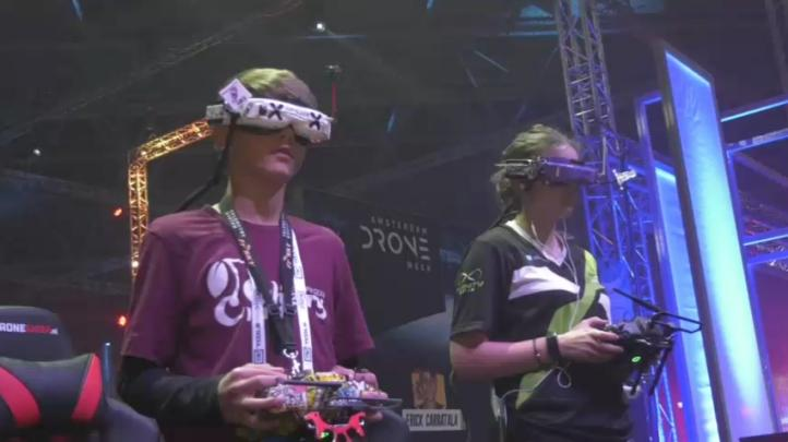 Carreras de drones se combinan con la realidad virtual