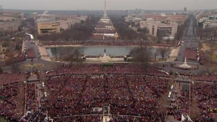 Donald Trump pronuncia su discurso inaugural