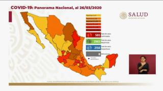 En un día se sumaron 110 positivos de Covid-19 en México; ya son 585