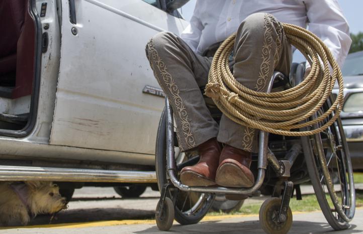 Charrería en silla de ruedas