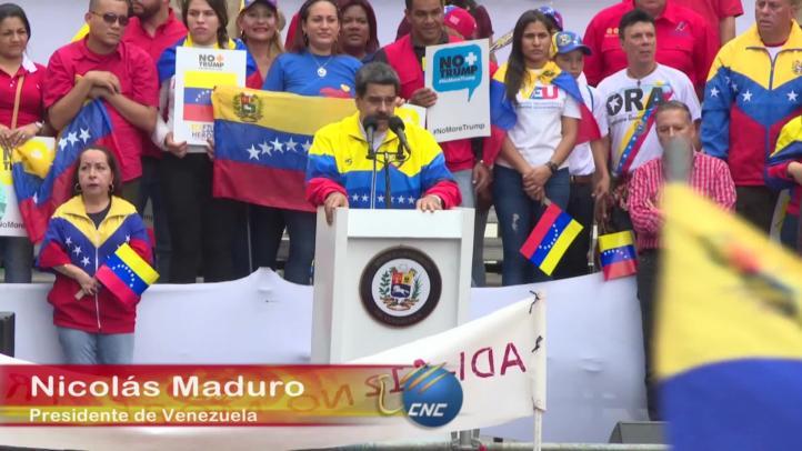 Venezuela se moviliza contra medidas de Donald Trump