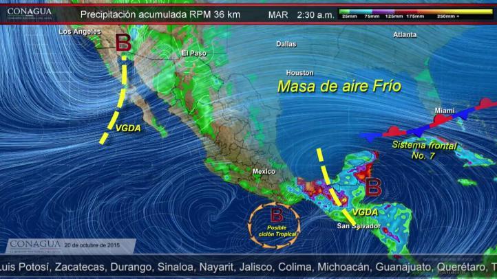 Pronóstico del tiempo del 20 de octubre