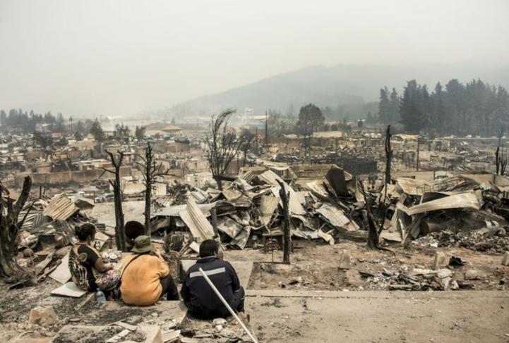 Comienza la reconstrucción de Santa Olga en Chile