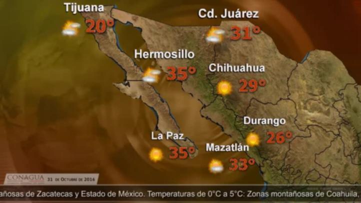 Pronóstico del tiempo para el 31 de octubre