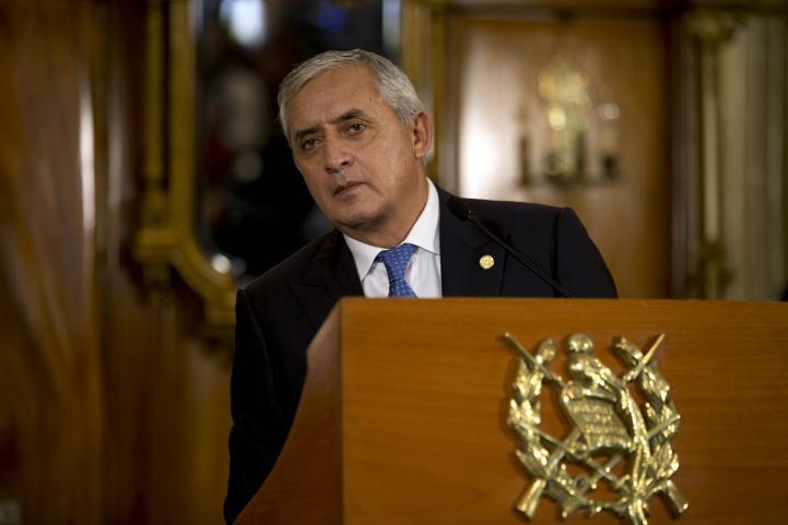 Pérez Molina negó haber participado en actos de corrupción
