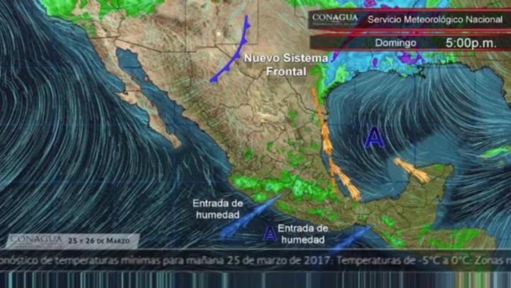 Pronóstico del tiempo para el 25 y 26 de marzo