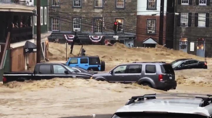 Inundaciones azotan ciudad en Maryland