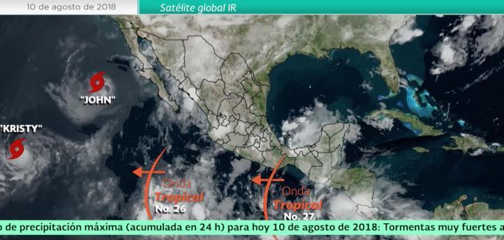 Pronóstico del tiempo para el 10 de agosto