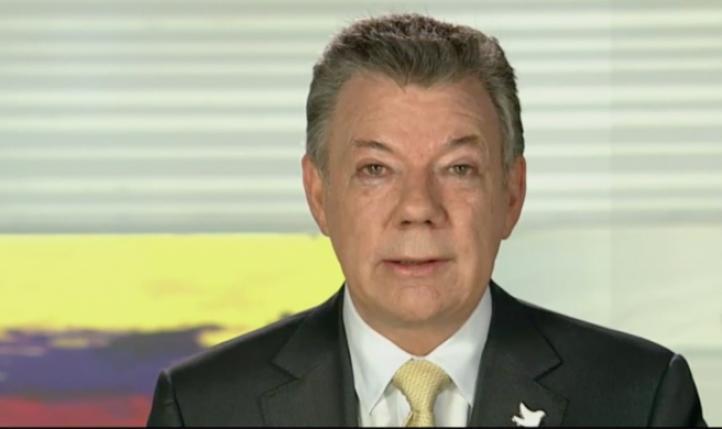 Santos anuncia cese al fuego con FARC al menos hasta el 31 de diciembre