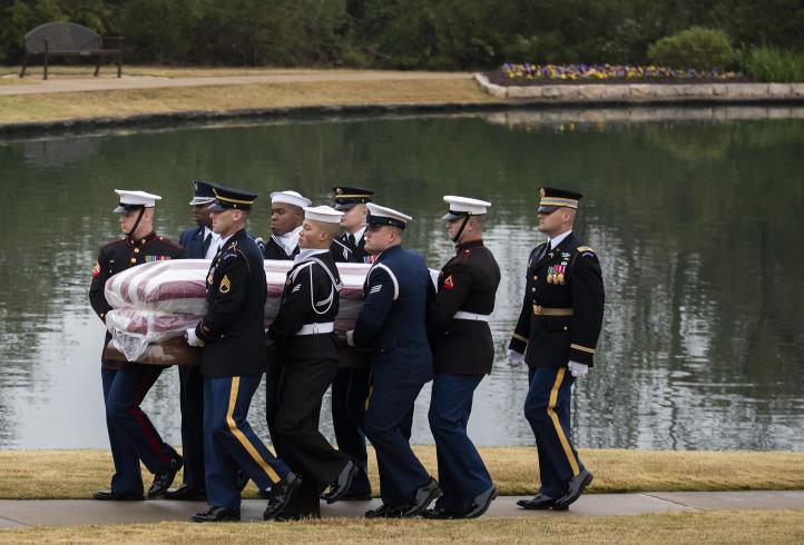 Expresidente George H.W. Bush fue enterrado en Texas
