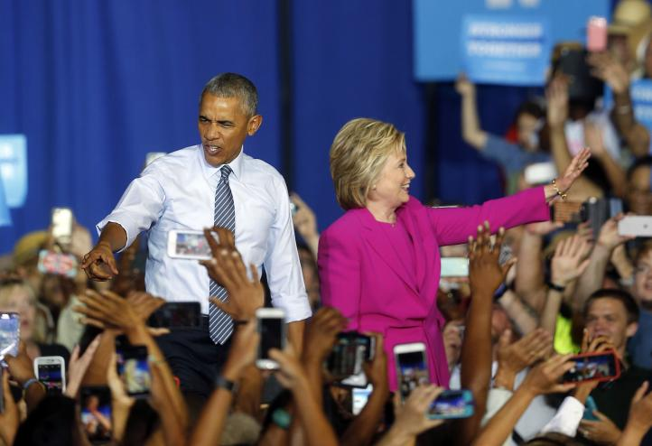 Clinton es la más calificada para ser presidenta, dice Obama
