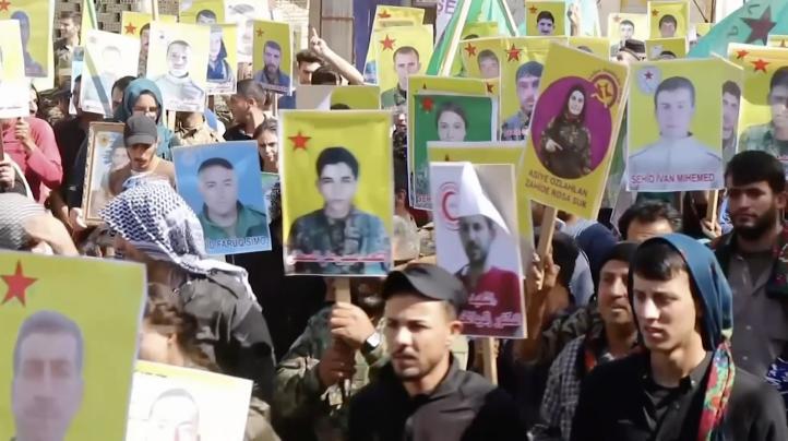 Protestan contra inminente ataque de Turquía en norte de Siria