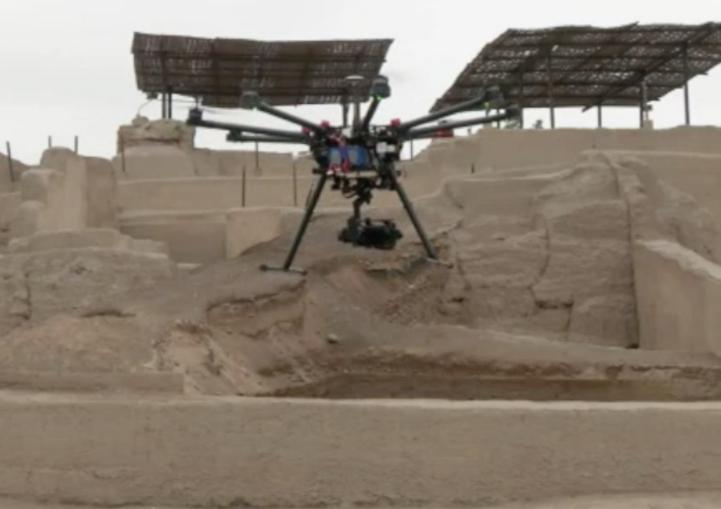 Registran con ayuda de drones sitios arqueológicos en Peru