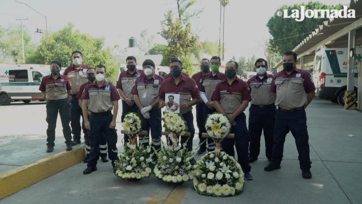 Realizan homenaje a médico del CRUM que falleció a causa del Covid-19