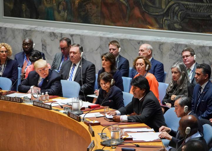 Evo Morales asegura, frente a Donald Trump, que EU desprecia el derecho internacional