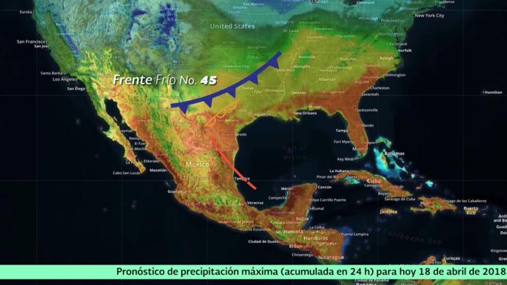 Pronóstico del tiempo para el 18 de abril