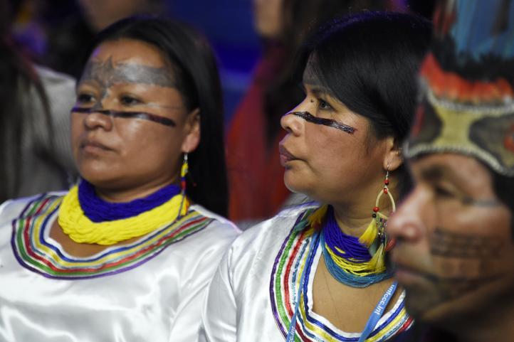 Pueblos indígenas tratan de hacerse oír en París
