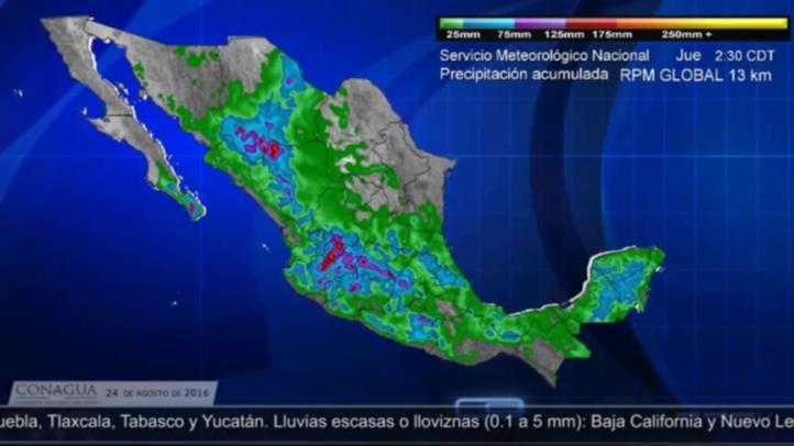 El Servicio Meteorológico Nacional informó que continuarán las lluvias
