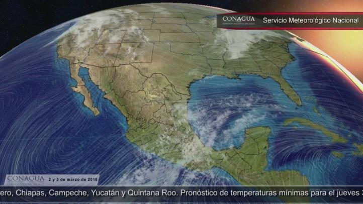 Pronóstico del tiempo para el 2 y 3 de marzo
