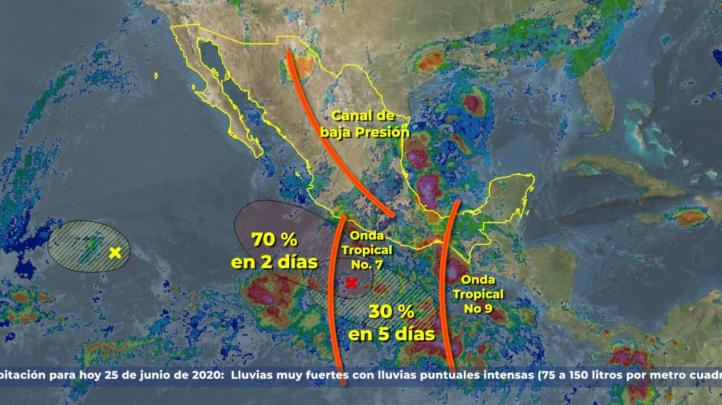 Pronóstico del Tiempo para el 25 de junio de 2020