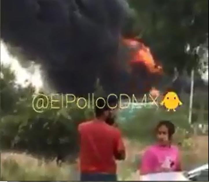 Incendio en empresa de plástico en Melchor Ocampo