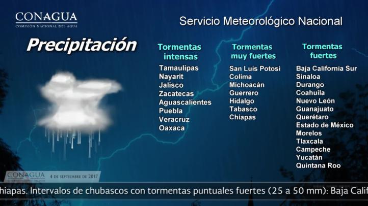 Pronóstico del tiempo para el 4 de septiembre