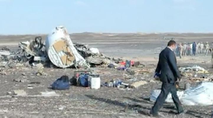 El lugar donde se siniestró el avión ruso
