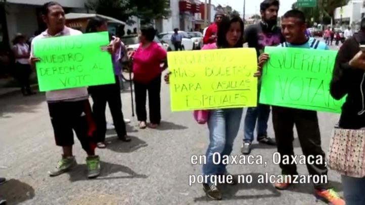 Protestan por falta de boletas en Oaxaca