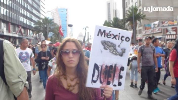 Marcha, a 11 meses de Ayotzinapa