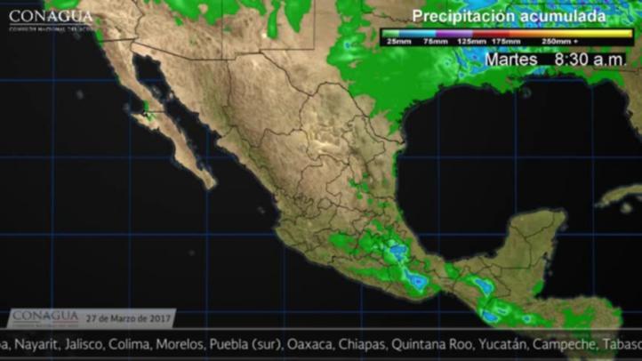 Pronóstico del tiempo para el 27 de marzo