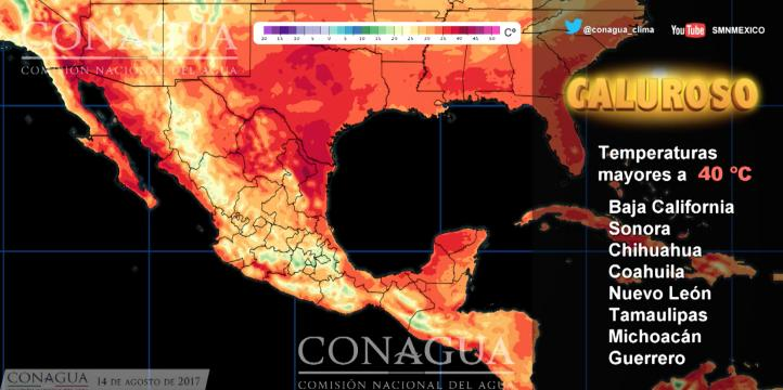 Pronóstico del tiempo para el 14 de agosto