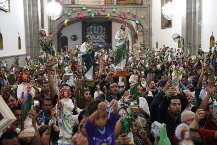 El culto anual al santo de las causas difíciles